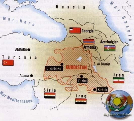Cartina Kurdistan.Roj Bash Kurdistan View Image Mappa Kurdistan